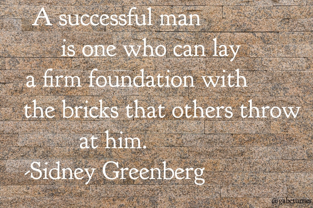 Success Quote Sidney Greenberg