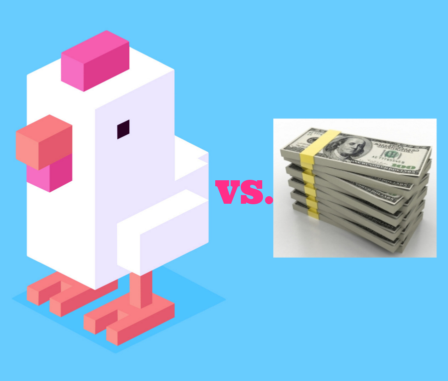 crossy road versus making moolah
